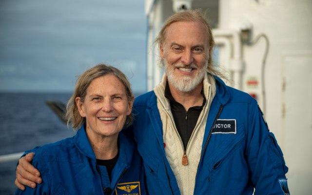 Kathy Sullivan and Victor Vescovo