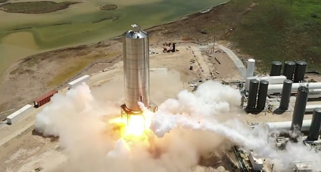 Starship SN5 test fire