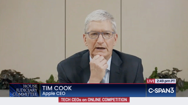 Tim Cook at the July 2020 antitrust hearing