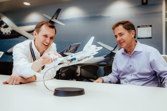 Virgin Galactic's current CEO, George Whitesides and new CEO, Michael Colglazier