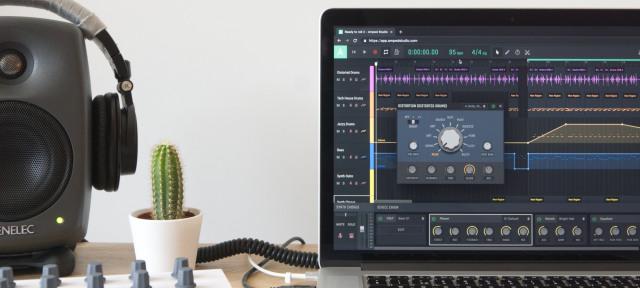 Amped Studio online DAW supports VST plugins