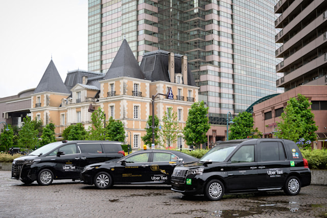 Uber Taxis in Tokyo