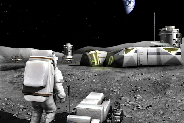 ESA's concept for a 3D-printed Moon base