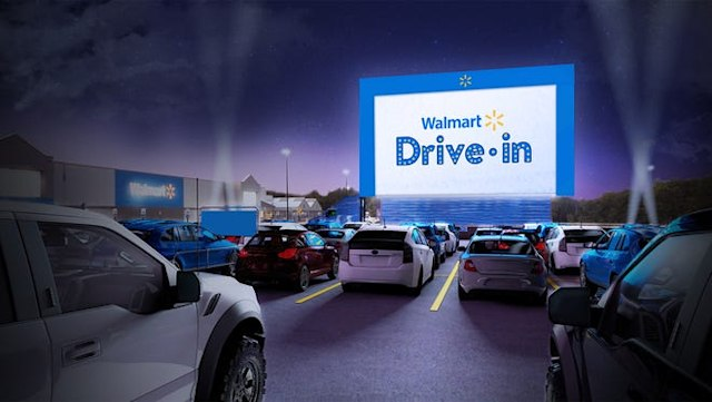 Promotional concept art of the Walmart Drive-In.