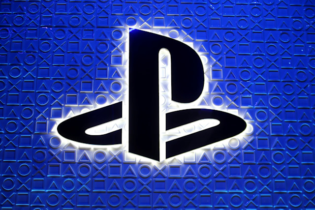 The Sony Playstation logo is shown at the E3 2017 Electronic Entertainment Expo in Los Angeles, California, U.S. June 13, 2017.  REUTERS/ Mike Blake