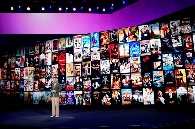 BURBANK, CALIFORNIA - OCTOBER 29: Ann Sarnoff, Chair & Chief Executive Officer of Warner Brothers, speaks onstage at HBO Max WarnerMedia Investor Day Presentation at Warner Bros. Studios on October 29, 2019 in Burbank, California. (Photo by Presley Ann/Getty Images for WarnerMedia)