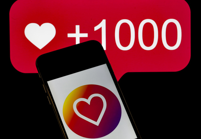 ANKARA, TURKEY - DECEMBER 10: A phone screen displays the heart icon of Instagram application in Ankara, Turkey on December 10, 2019.   (Photo by Metin Aktas/Anadolu Agency/Getty Images)