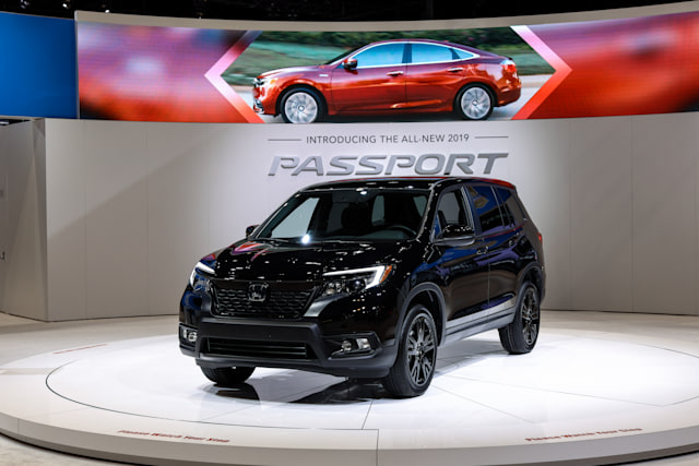 111th Annual Chicago Auto Show opens its doors for the media preview at McCormick Place in Chicago, Illinois, USA on February 7, 2019. A Honda Passport AWD Sport is on display at the Chicago Auto Show. The Show will be open for public February 9 to 18, after 2 days media previews. (Photo by Bilgin Sasmaz/NurPhoto via Getty Images)