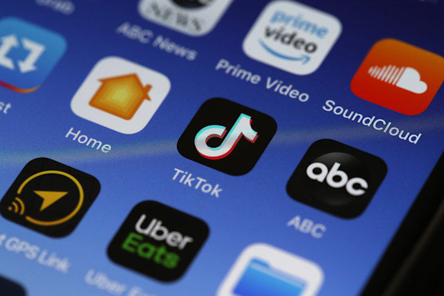 SAN ANSELMO, CALIFORNIA - NOVEMBER 01: In this photo illustration, the Tik Tok app is displayed on an Apple iPhone on November 01, 2019 in San Anselmo, California. The Committee on Foreign Investment in the United States (CFIUS) has started a national security investigation of social media app TikTok after Beijing ByteDance Technology Co acquired U.S. social media app Musical.ly for $1 billion. (Photo Illustration by Justin Sullivan/Getty Images)