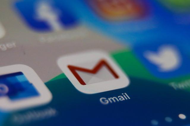 Gmail icon is seen displayed on phone screen in this illustration photo taken in Poland on February 20, 2020. (Photo illustration byJakub Porzycki/NurPhoto via Getty Images)