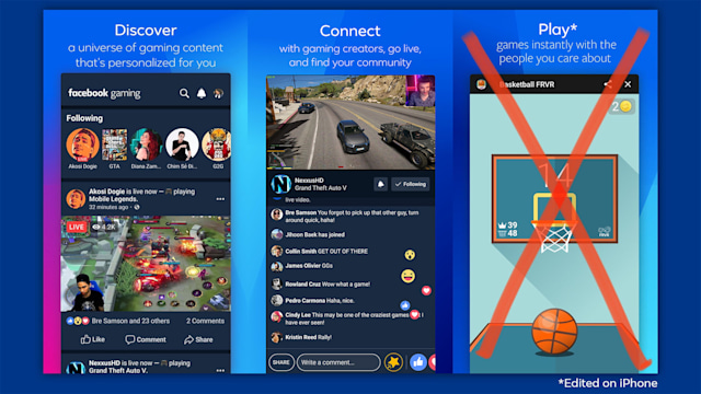 Facebook slams Apple's restrictive policies as its gaming app arrives on iOS