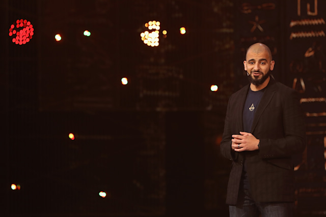 LOS ANGELES, CA - JUNE 12:  Game Director Ashraf Ismail introduces 'Assassin's Creed Origins' during the Ubisoft E3 conference at the Orpheum Theater on June 12, 2017 in Los Angeles, California. The E3 Game Conference begins on Tuesday June 13.  (Photo by Christian Petersen/Getty Images)