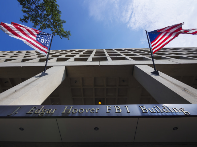 The main headquarters of the FBI, the J. Edgar Hoover FBI Building.
