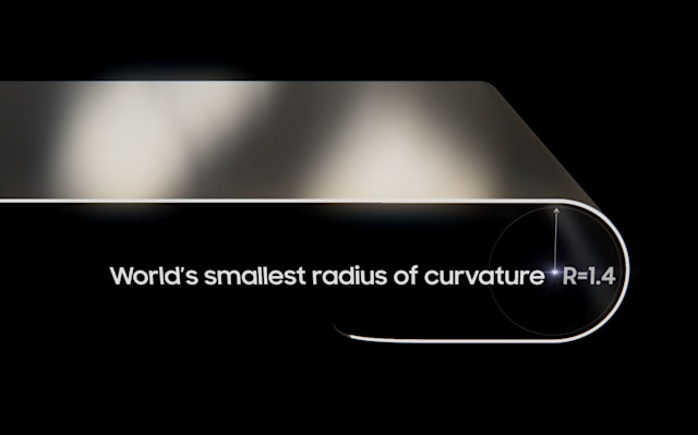 Samsung says its OLED folding display has the world's smallest curvature