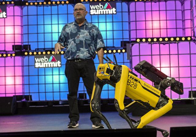LISBON, PORTUGAL - NOVEMBER 07: Marc Raibert, Founder & CEO, Boston Dynamics, speaks on