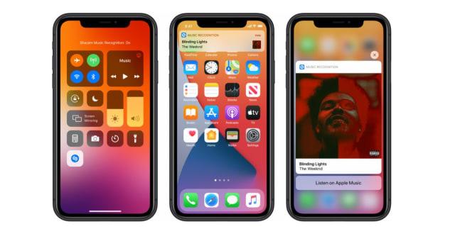 Shazam in iOS 14