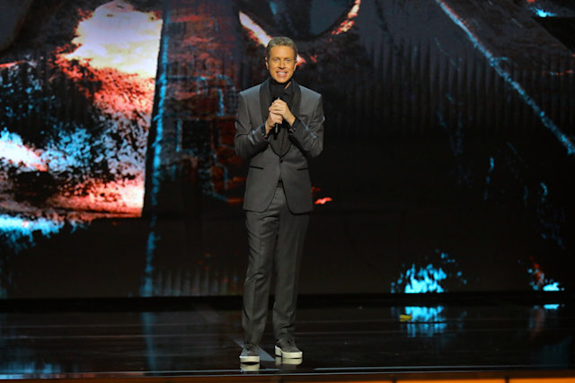 LOS ANGELES, CALIFORNIA - DECEMBER 12: Geoff Keighley speaks onstage during The Game Awards 2019 at Microsoft Theater on December 12, 2019 in Los Angeles, California. (Photo by JC Olivera/Getty Images)
