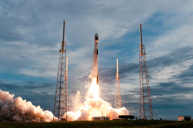 SpaceX Falcon 9 rocket carrying SAOCOM-1B mission to orbit