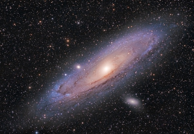 Telescope image of the Andromeda Galaxy (M31)