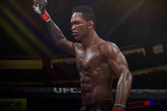A victorious fighter in EA's 'UFC 4'