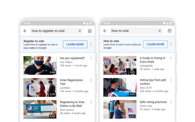 YouTube 2020 Election