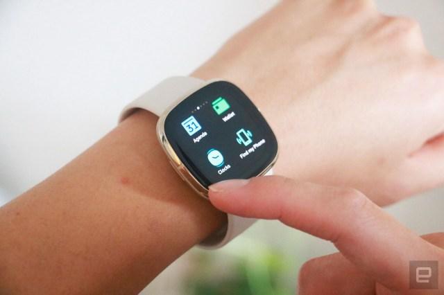 Fitbit Sense smartwatch interface