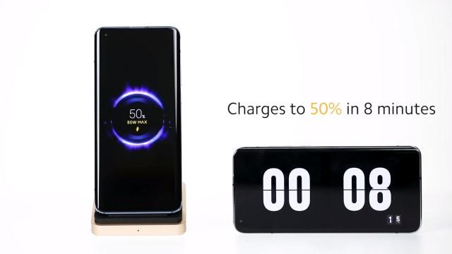 Xiaomi 80 watt wireless charging demonstration