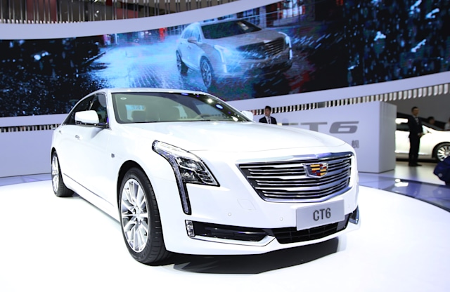 BEIJING, CHINA - APRIL 25: A Cadillac CT6 Sedan is on display during the Auto China 2018 at China International Exhibition Center on April 25, 2018 in Beijing, China. Auto China 2018, also known as 2018 Beijing International Automotive Exhibition, will be held from April 27 to May 4. (Photo by Visual China Group via Getty Images/Visual China Group via Getty Images)