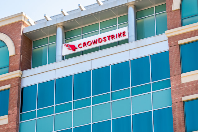 July 8, 2020 Sunnyvale / CA / USA - Crowdstrike headquarters in Silicon Valley; CrowdStrike Holdings, Inc. is a cyber-security technology company