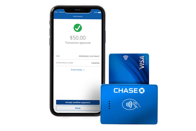 Chase Business Complete Banking with contactless payment reader