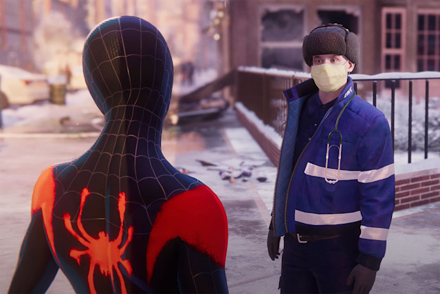 'Into the Spider-Verse' suit in 'Spider-Man: Miles Morales' for PS5 and PS4
