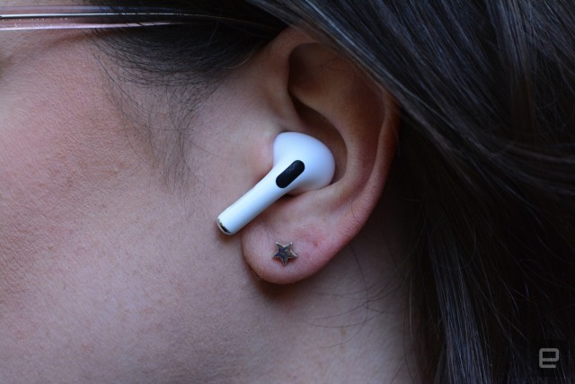 Apple AirPods Pro in ears