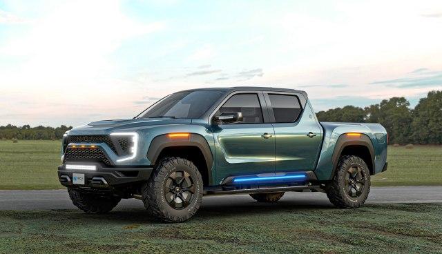 Nikola hybrid fuel-cell pickup truck.