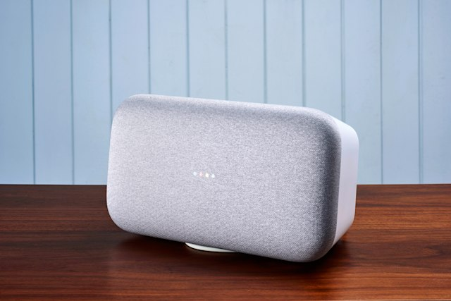 A Google Home Max smart speaker, taken on October 25, 2018. (Photo by Olly Curtis/T3 Magazine/Future via Getty Images)