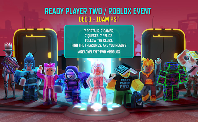 'Ready Player Two' virtual book tour event in 'Roblox'