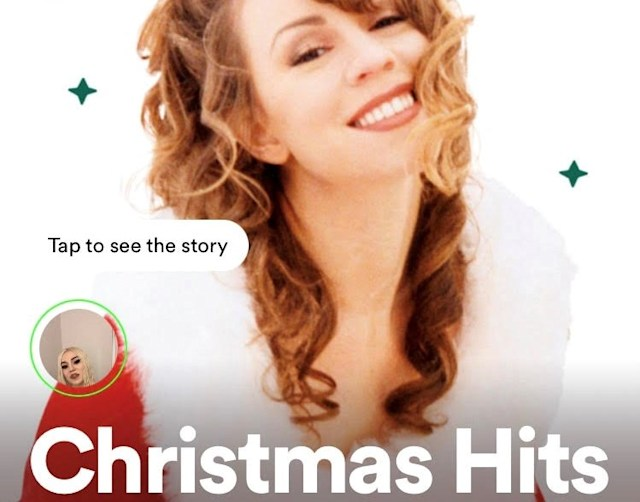 The Christmas Hits playlist on Spotify
