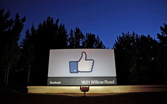 facebook corporate sign
