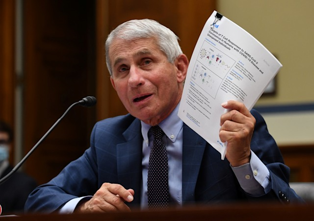 Dr. Anthony Fauci, director of the National Institute for Allergy and Infectious Diseases, testifies during the House Select Subcommittee on the Coronavirus Crisis hearing in Washington, D.C., U.S., July 31, 2020. Kevin Dietsch/Pool via REUTERS