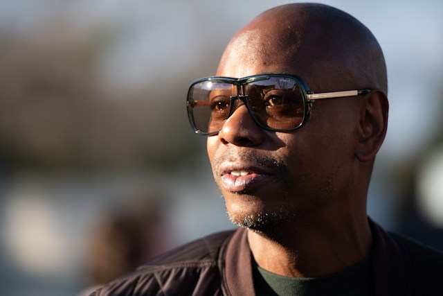 CHARLESTON, SC - JANUARY 30: Comedian Dave Chappelle campaigns for Democratic presidential candidate Andrew Yang on January 30, 2020 in North Charleston, South Carolina. The comedian has endorsed the candidate and performs the second of two South Carolina campaign benefit shows Thursday evening in Charleston.  (Photo by Sean Rayford/Getty Images)