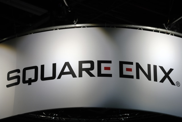 PARIS, FRANCE - NOVEMBER 02:  Square Enix logo is displayed during the 'Paris Games Week' on November 02, 2017 in Paris, France. Square Enix is a Japanese company that develops and publishes video games and mangas. 'Paris Games Week' is an international trade fair for video games and runs from November 01 to November 5, 2017.  (Photo by Chesnot/Getty Images)