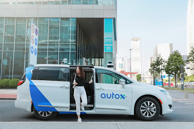 AutoX fully driverless robotaxi in Shenzhen, China