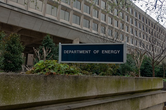 Washington, DC, USA - March, 21, 2020 - The United States Department of Energy (DOE) headquarter building.