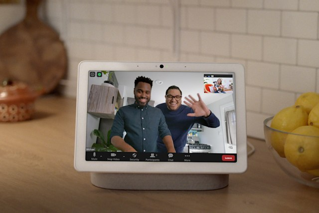 Zoom video calls on Google Nest Hub Max