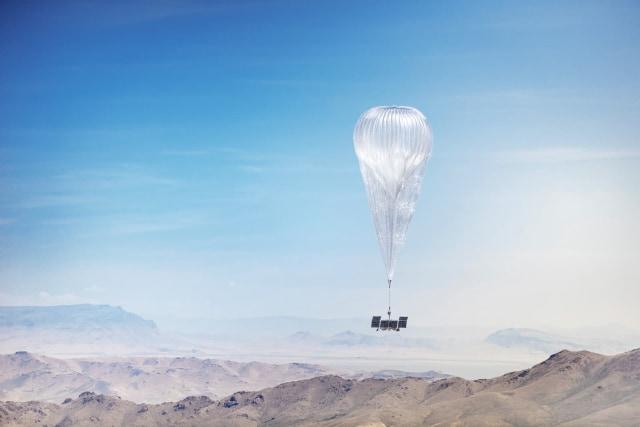 Loon balloon in flight