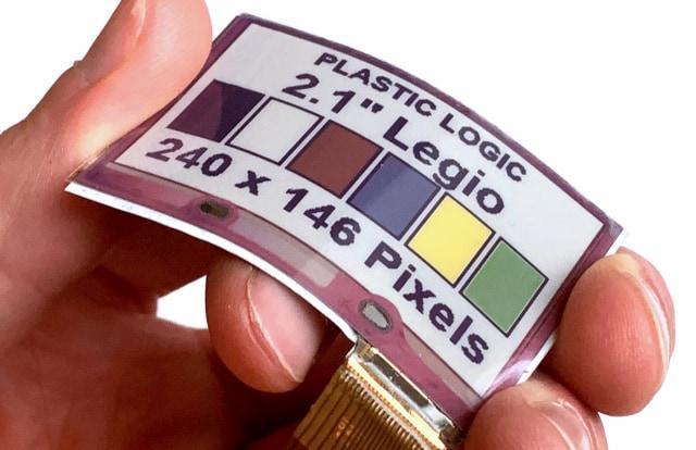 Legio flexible color epaper display