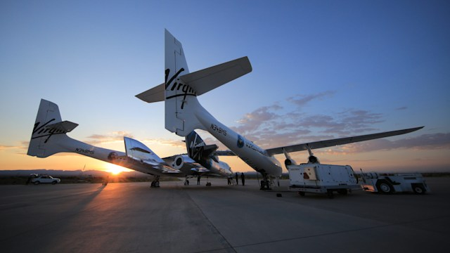 Virgin Galactic rocket-powered Unity test flight Spaceport America