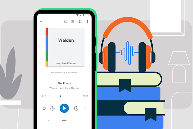 Auto-narrated audiobooks on Android