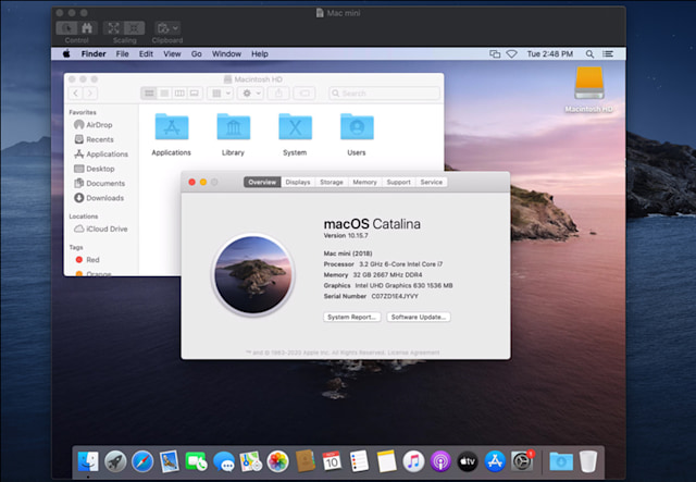 macOS Catalina desktop view.