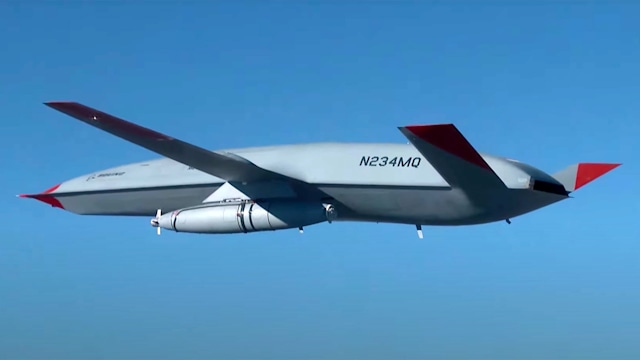Boeing MQ-25 mid-are refueling fuel tanker drone