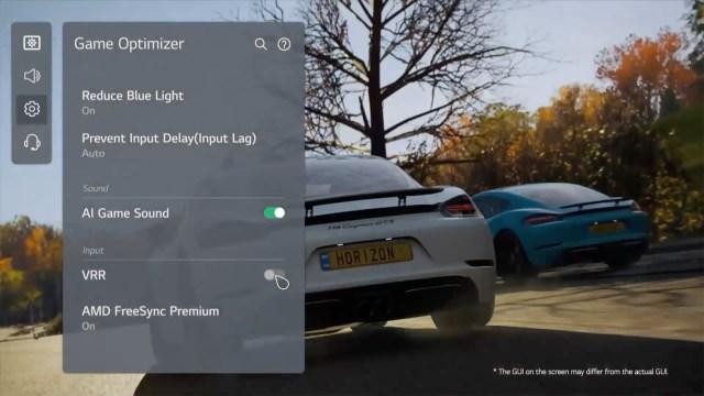LG C1 OLED TV Game Optimizer